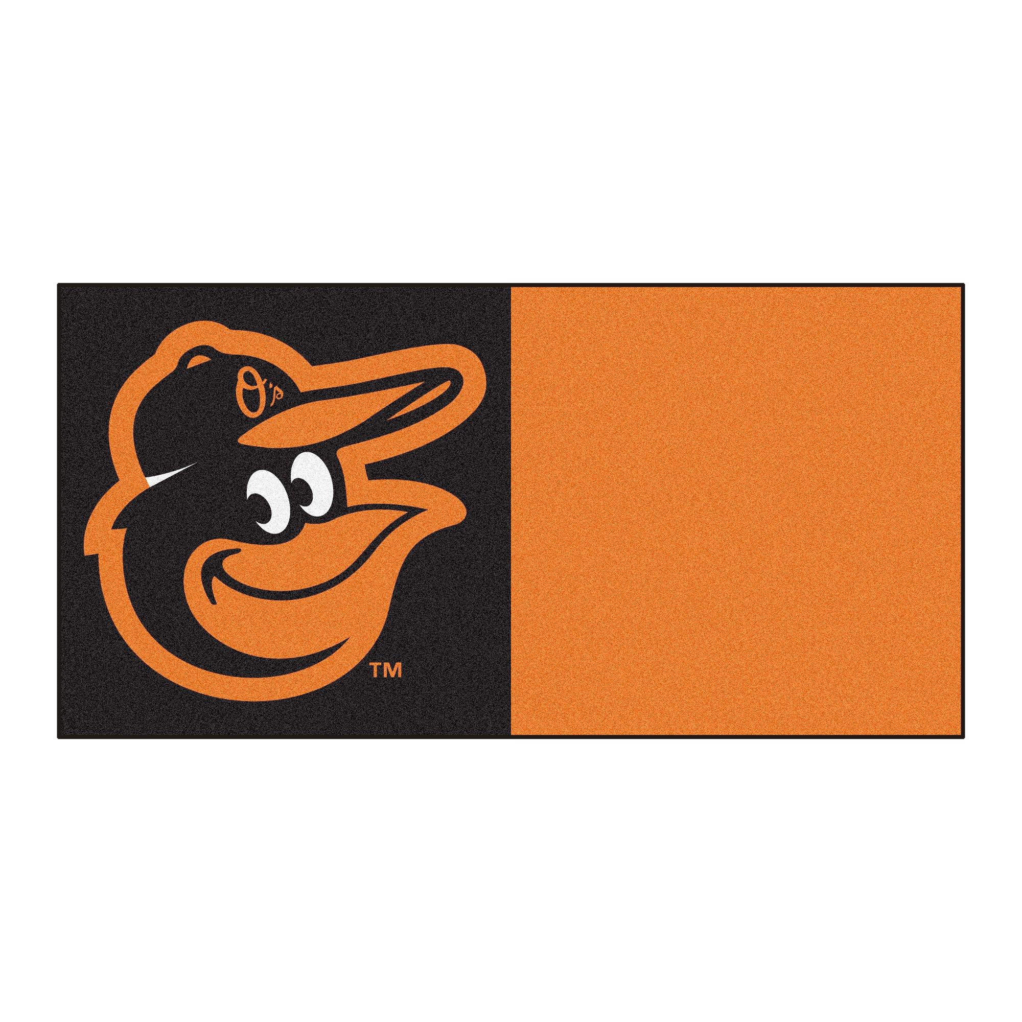 Fanmats MLB Baltimore Orioles Carpet Tiles, 18'' x 18''