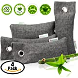 Natural Air Purifying Bags and Odor Remover - Activated Charcoal Odor Absorber - Best Shoe Charcoal Deodorizer and Odor Eliminator - 75 g (4-Pack) activated charcoal bags