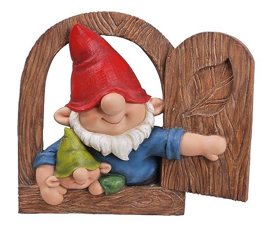 Vivid Arts Ltd - Figura decorativa de papá gnomo e hijo mirando ...
