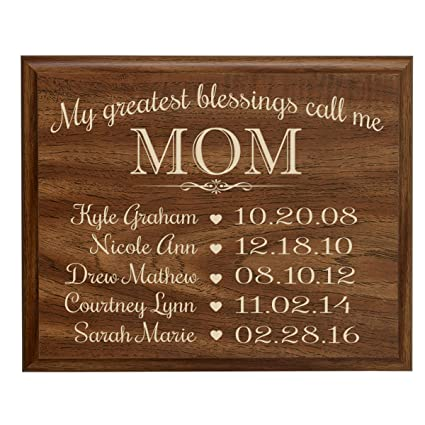 amazon com personalized gifts for mom with family established year