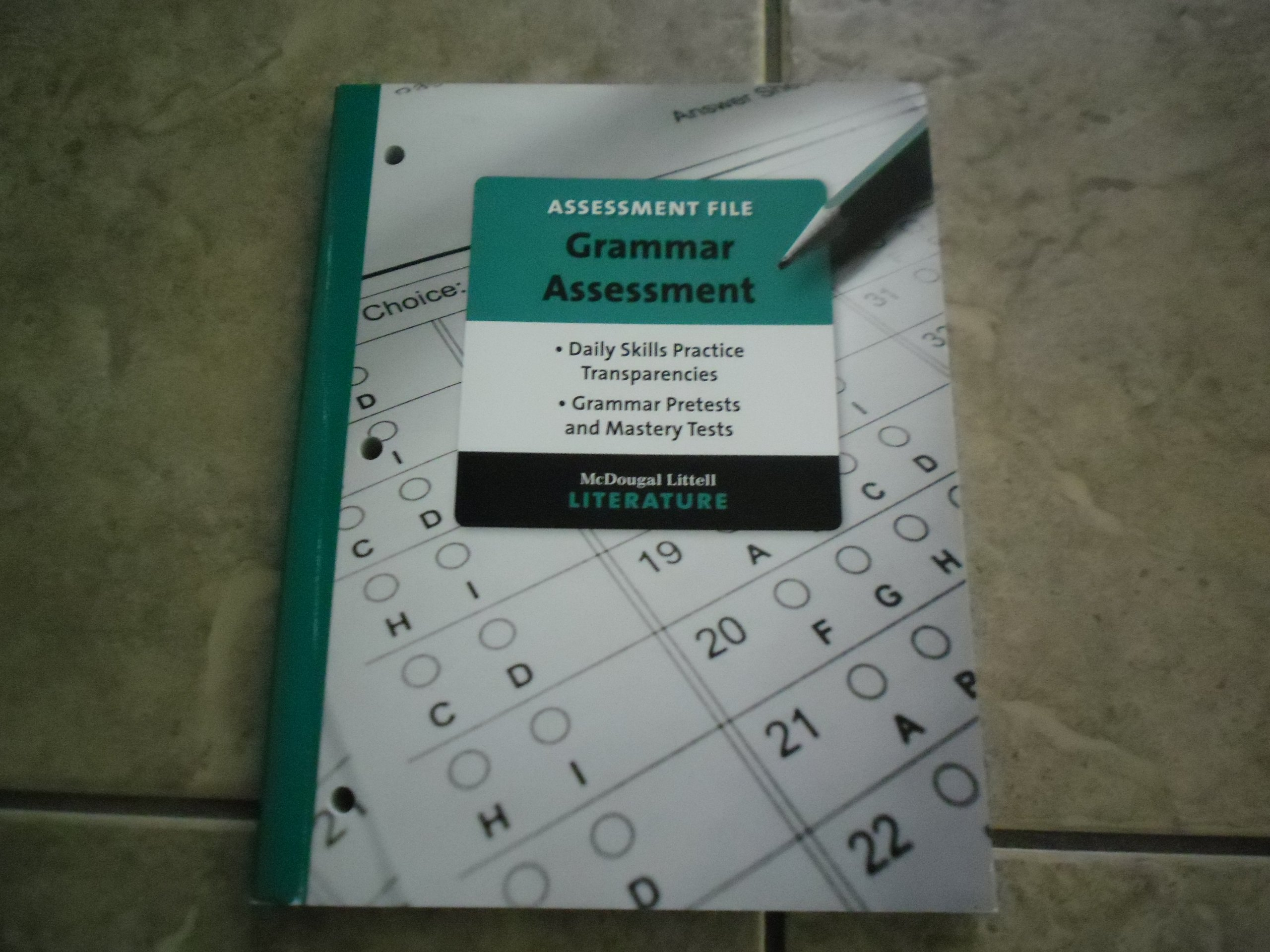 Download Assessment File,Grammar Assessment 8 pdf