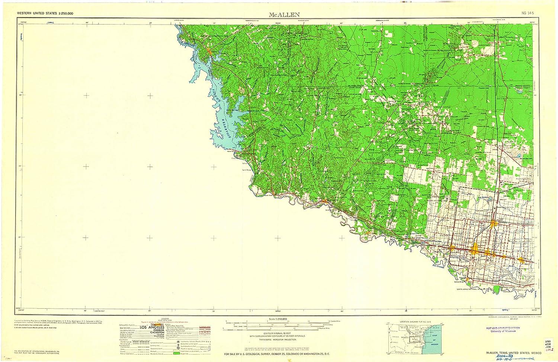Amazon Com Yellowmaps Mcallen Tx Topo Map 1 250000 Scale 1 X 2