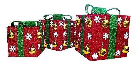 christmas decoration gerson international light up gift boxes decoration