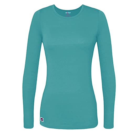 e4e0ec58b13 Amazon.com  Sivvan Women's Comfort Long Sleeve T-Shirt Underscrub ...