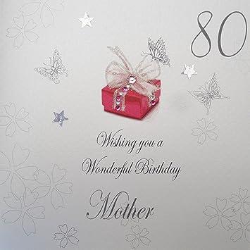 Amazon.com: White Cotton Cards 80 - Tarjeta de cumpleaños ...