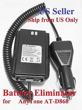 AnyTone AT-D878UV and D868UV Battery Eliminator Whit Belt Clip