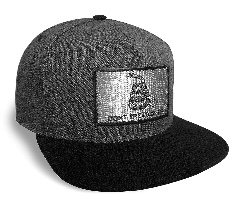 8202a945cbf Strange Cargo Don t Tread On Me Flag Black and Charcoal Baseball Cap Hat  Snapback Flat Brim at Amazon Men s Clothing store