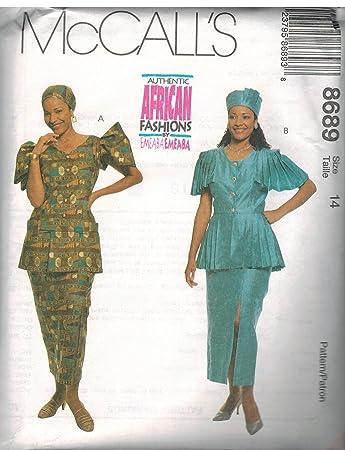 Amazon 60 McCalls Sewing Pattern UNCUT Misses Emeaba Emeaba Stunning African Sewing Patterns