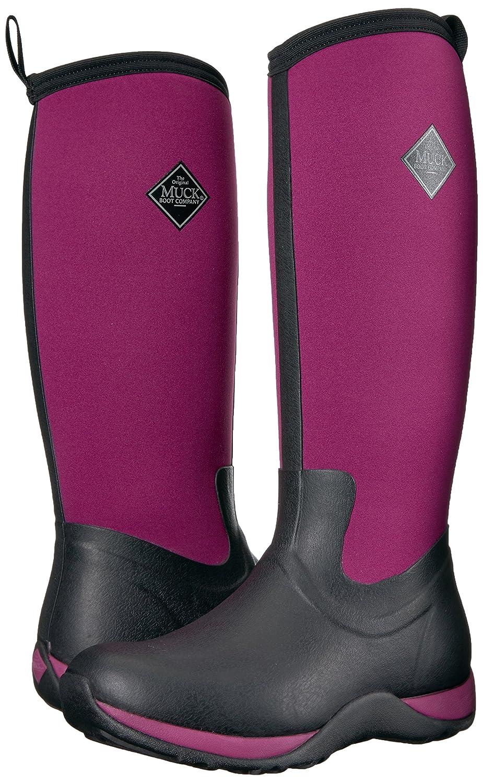 Muck Boot Women's Arctic Adventure Tall Snow Boot B00BN60YJ2 9 B(M) US|Black/Maroon