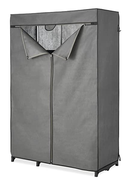 Whitmor COVER ONLY For Double Rod Closet With Heavy Duty Zipper   Gray