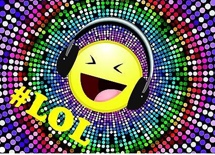8 Einladungskarten Smiley Emoji Geburtstag Kinder Disco Party Einladungen Motto
