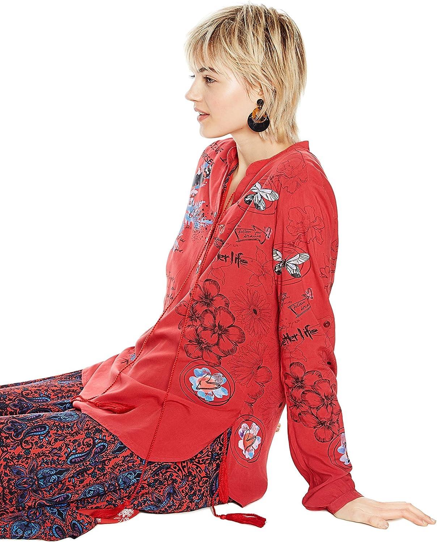 Desigual Blus_Lisa Camicia Donna Rouge