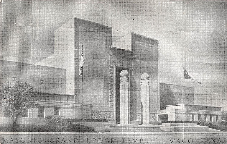 Waco Texas Masonic Grand Lodge Temple Vintage Postcard