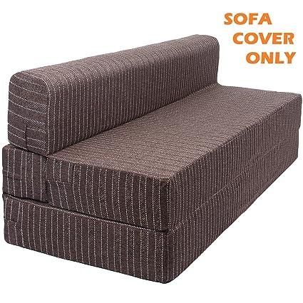 Buy Uberlyfe Jutefabric Sofa Cum Bed Cover 6 X 6 Brown