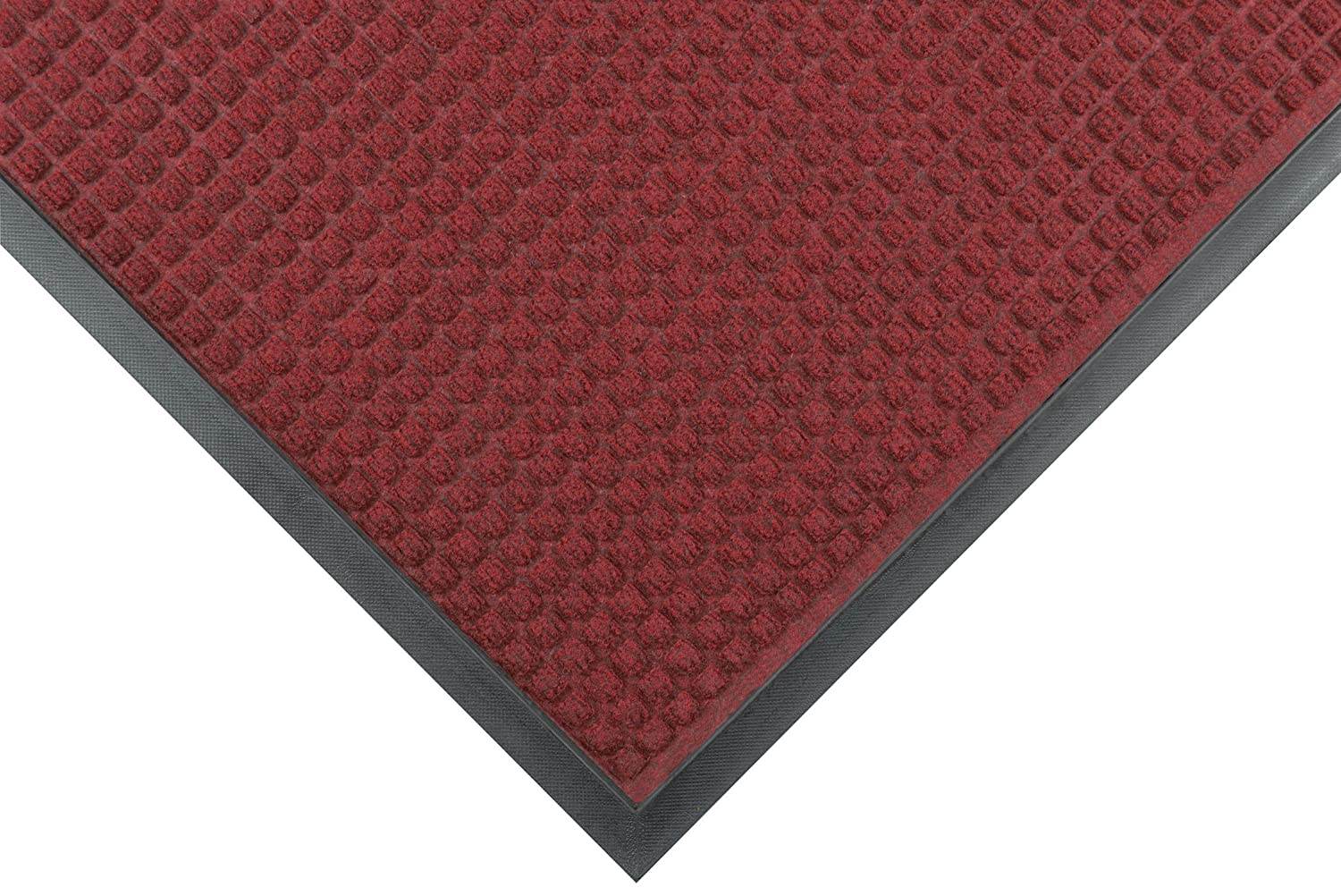 Notrax Mats for Professional Use 166S0034RB Guzzler robust barrier mat with moulded cubes, RED