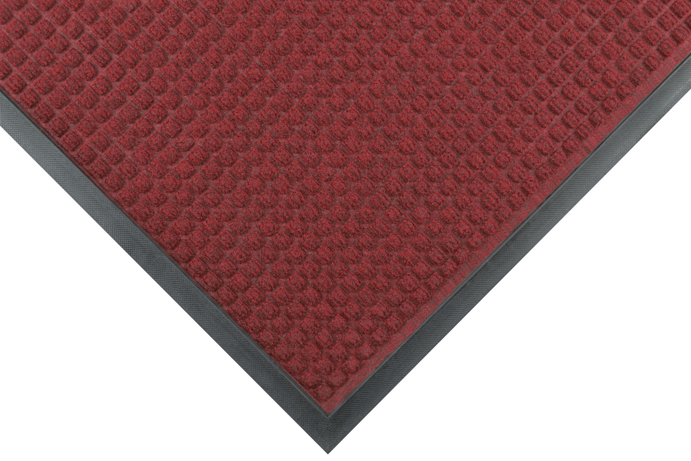 Notrax 166 Guzzler Entrance Mat, for Lobbies and Entranceways, 4' Width x 6' Length x 1/4'' Thickness, Red/Black