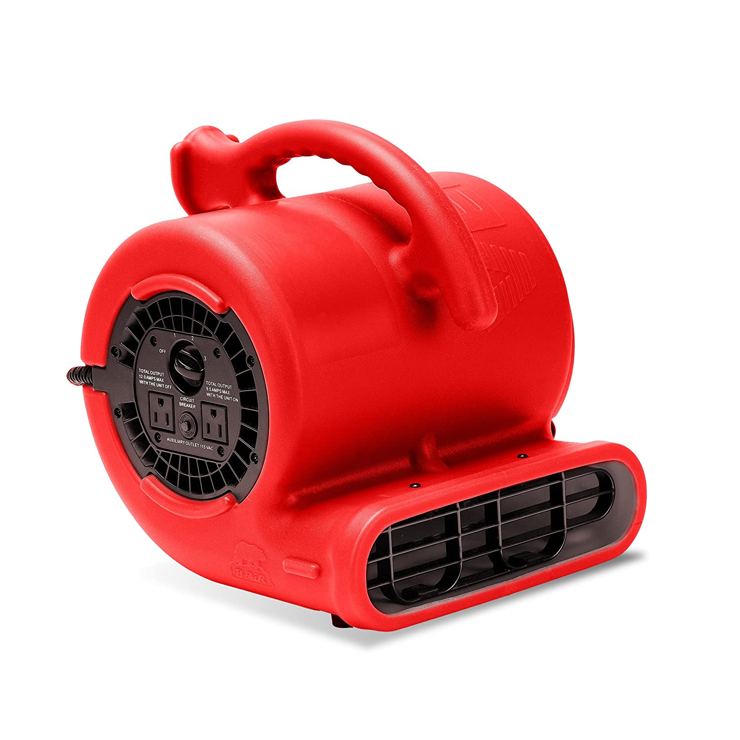 B-Air VP-25 1/4 HP 900 CFM Air Mover for Water Damage Restoration Carpet Dryer Floor Blower Fan Home and Plumbing Use, Blue VP-25 BLUE