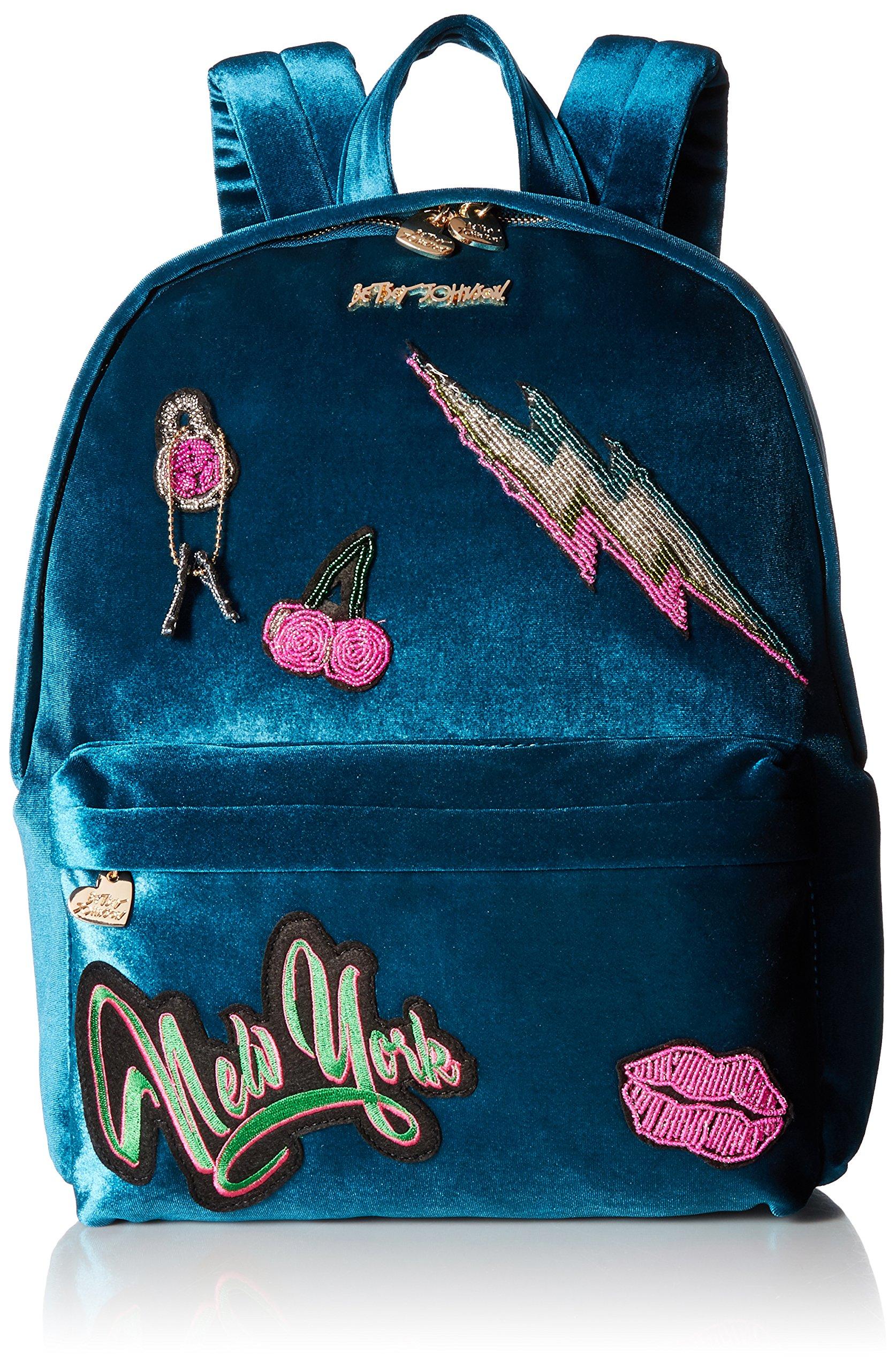 Betsey Johnson Women's Baby's Got Back Backpack Blue One Size