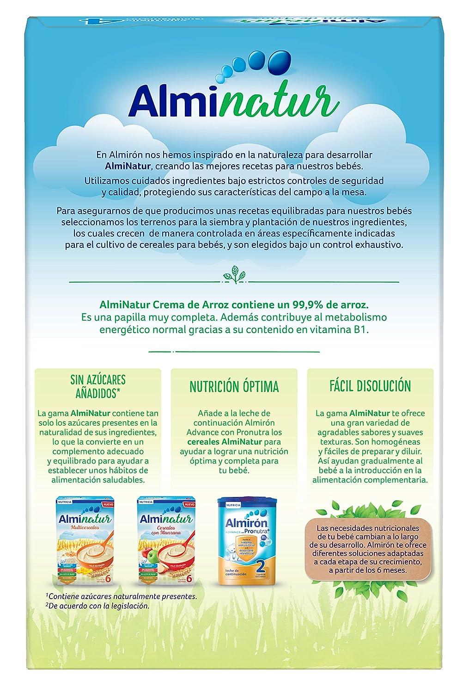 Alminatur Papilla de crema de arroz a partir de los 4 meses - 250 gr: Amazon.es: Alimentación y bebidas