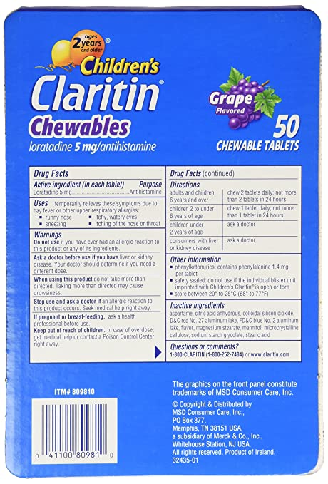 Claritin Dosage For Kids   Kids Matttroy