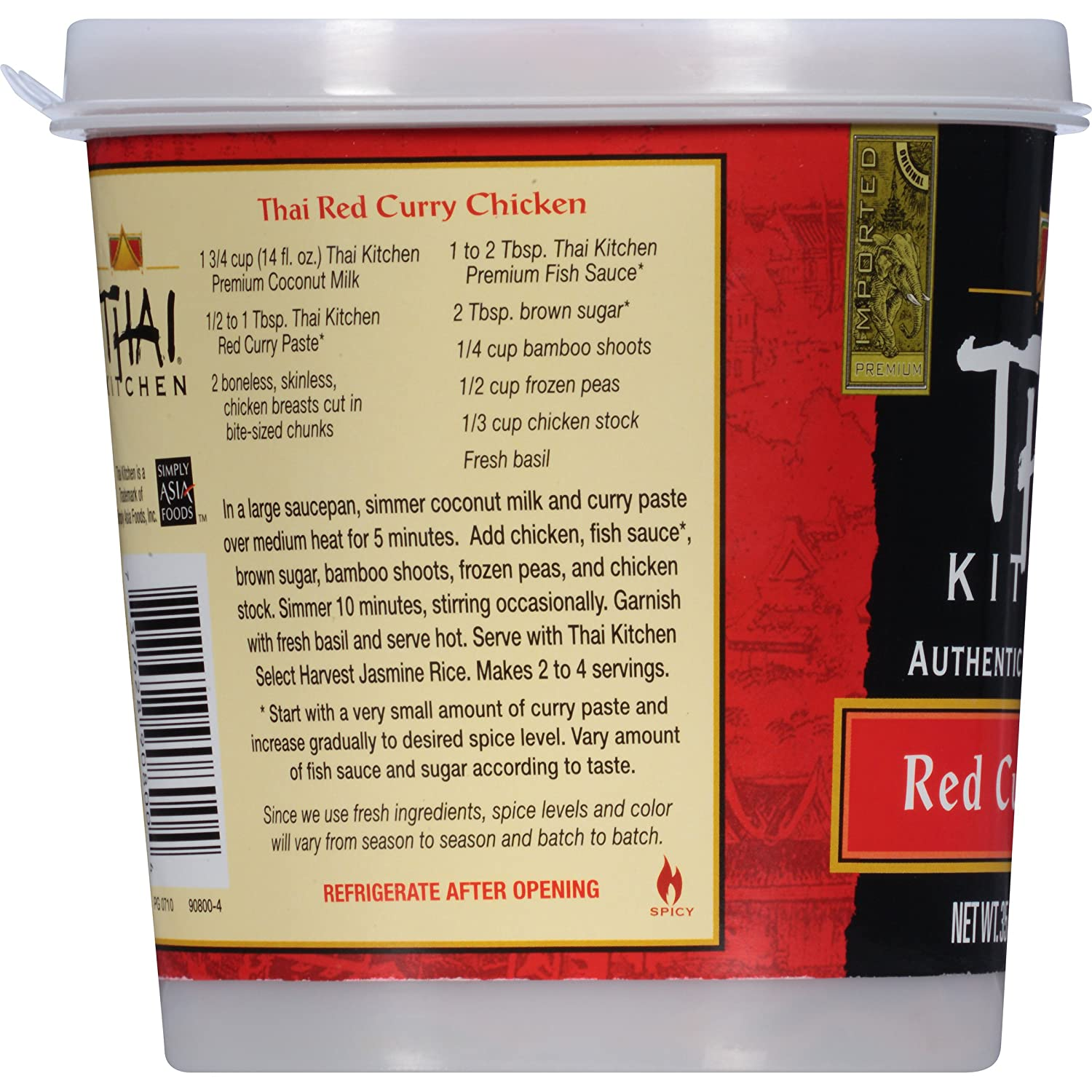 thai kitchen red curry paste 35 oz grocery