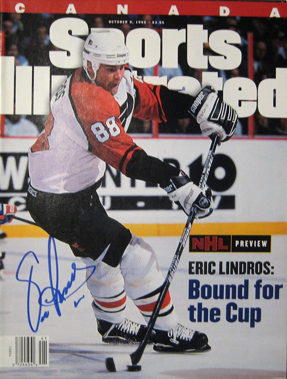 Lindros Eric 10//9//95 autographed magazine