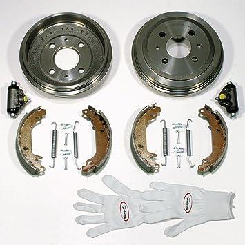 Autoparts Online Set 60009509 Bremstrommeln Bremsen Bremsbacken Radzylinder Zubehör Hinten Auto
