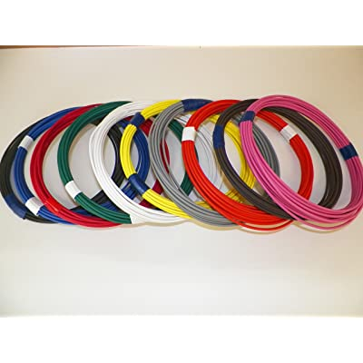 Automotive Copper Wire, TXL, 22 GA, AWG, GAUGE Truck, Motorcycle, RV, General Purpose. Order by 3pm EST Shipped Same Day (10 Colors 25' Each): Automotive