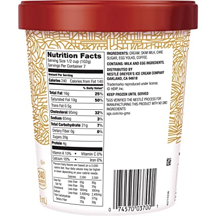 Haagen-Dazs, Coffee Ice Cream, 28 oz (Frozen): Amazon.com: Grocery & Gourmet Food