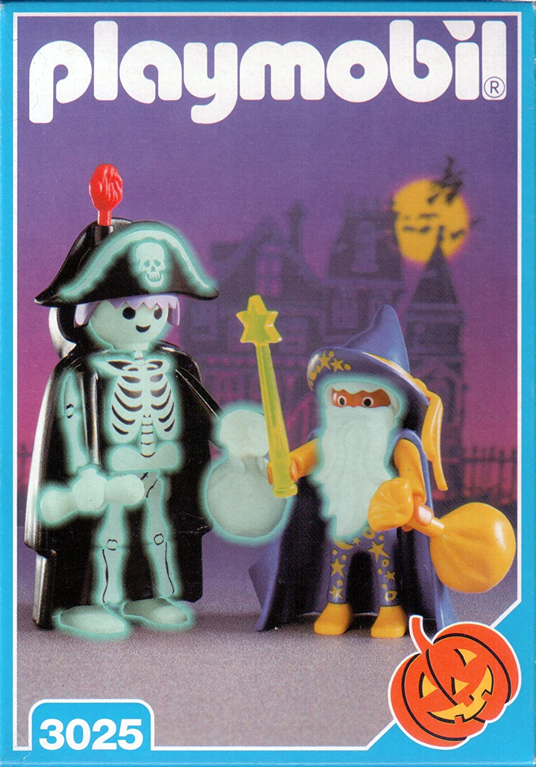 Playmobil Halloween Quick.Amazon Com Playmobil 3025 Skeleton And Wizard Halloween Set