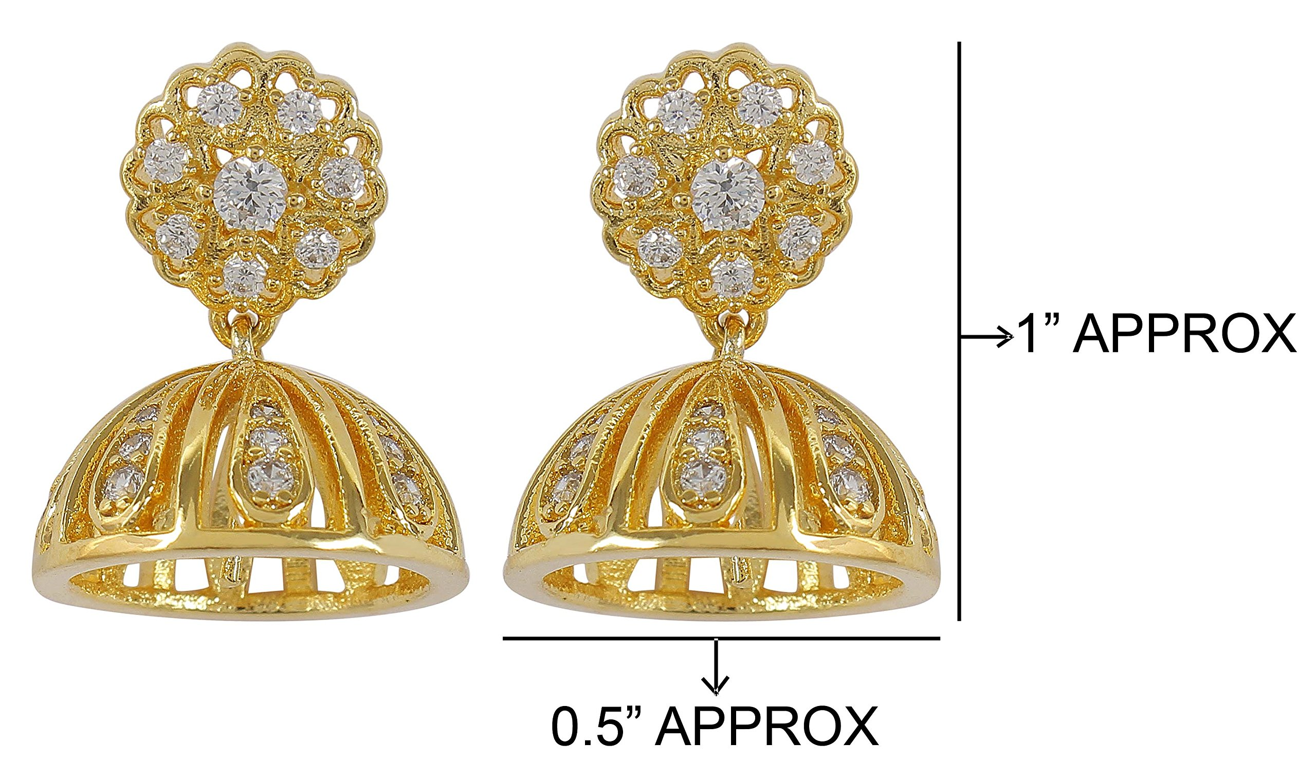 MUCH-MORE Amazing Bollywood Style Diamontick Cuff Earring Partywear Indian Jewelry (1027)