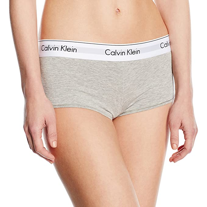 Calvin Klein underwear Modern Cotton - Short - Ropa Interior para Mujer, Color Grau (
