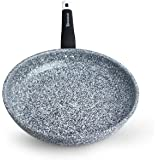 WaxonWare 11 Inch Non Stick Frying Pan & Skillet With STONETEC (PTFE, PFOA and APEO Free) Ceramic Non-Stick Coating With Induction Bottom & Table Trivet