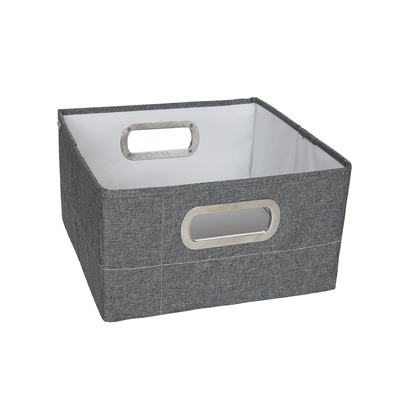 JJ Cole Heather Storage Box Slate 6.5-Inch