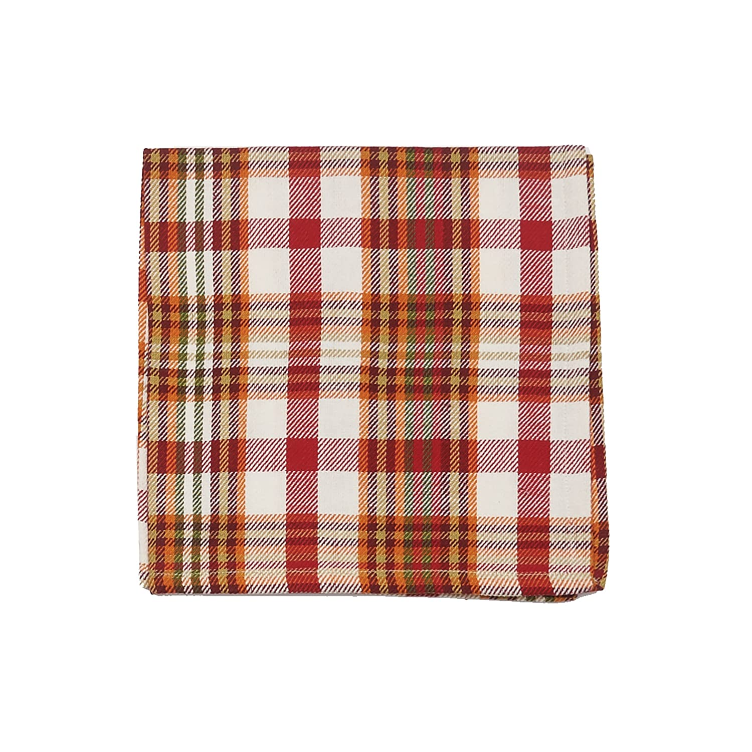 C/&F Home Abingdon Plaid Napkin 18x18 Set of 4 Napkin Set of 4 Abingdon Plaid