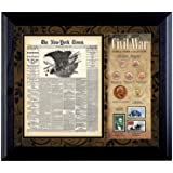 American Coin Treasures New York Times Civil War Coin and Stamp Collection Framed