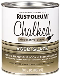 Rust-Oleum 315881 Chalked Decorative Glaze, Semi-Transparent Aged, 30 fl. oz.
