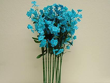 Amazon 12 sprays ruffle baby breath filler artificial silk 12 sprays ruffle baby breath filler artificial silk flowers 18quot stem 828 blue turquoise mightylinksfo