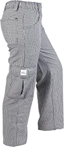 Mercer Culinary M61071HTXXS Genesis Women's Chef Cargo Pant in Hounds Tooth, XX-Small, Black/White
