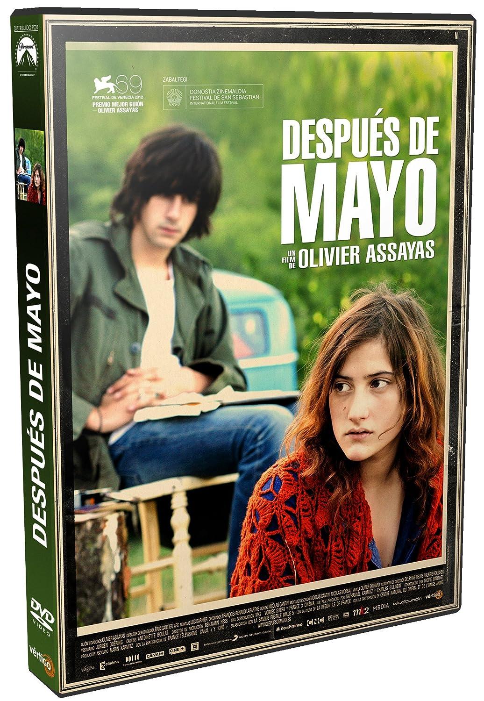 """Vista de la carcasa de un disco DVD con el texto """"Después de mayo. Un film de Olivier Assayas"""""""