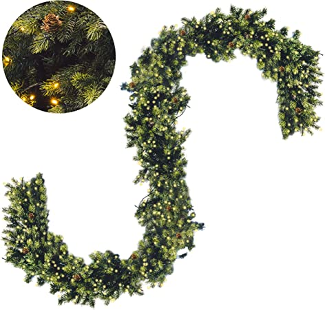 The StartUp Guirnalda De Navidad Artificial De 1,5 Metros Con ...