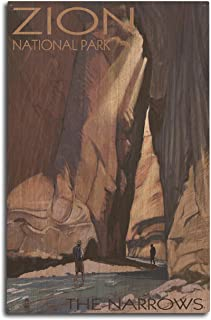 product image for Lantern Press Zion National Park, Utah - The Narrows (10x15 Wood Wall Sign, Wall Decor Ready to Hang)