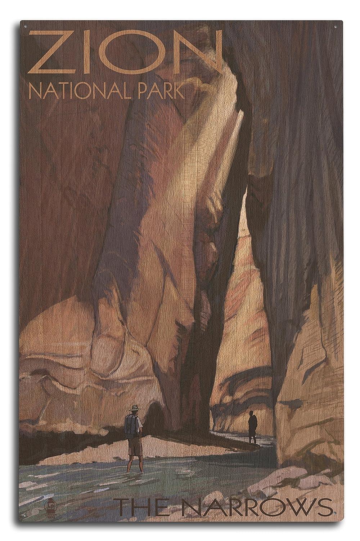 ザイオン国立公園 – The Narrows 10 x 15 Wood Sign LANT-31062-10x15W B07368N8L9 10 x 15 Wood Sign 10 x 15 Wood Sign