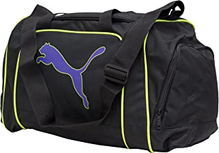 Puma Unisexe – Adulte Team Cat Medium Bag Black-Prism Violet, Noir, 46 x 25 x 30 cm