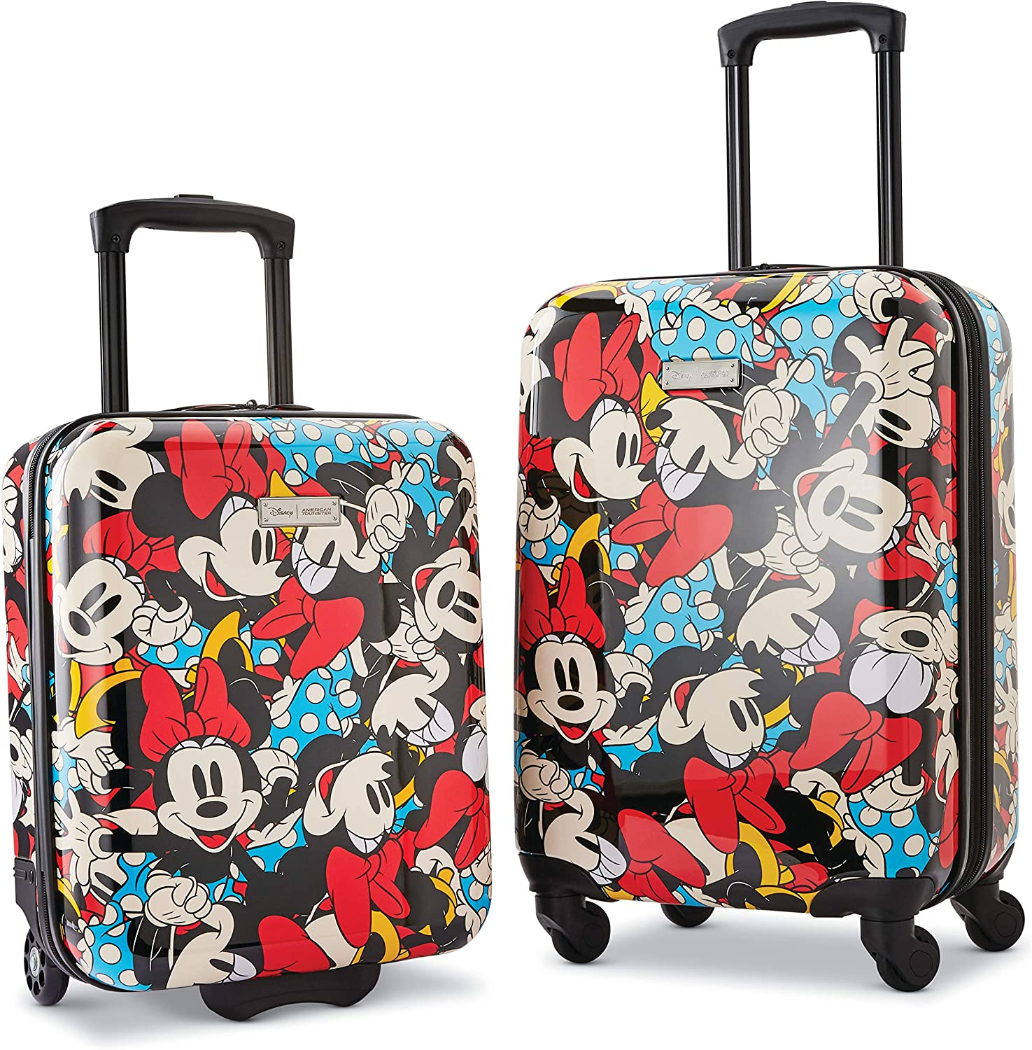 Amazon Com American Tourister Disney Hardside Luggage With Spinner Wheels Minnie Mouse 2 2 Piece Set 18 21 Kids Luggage