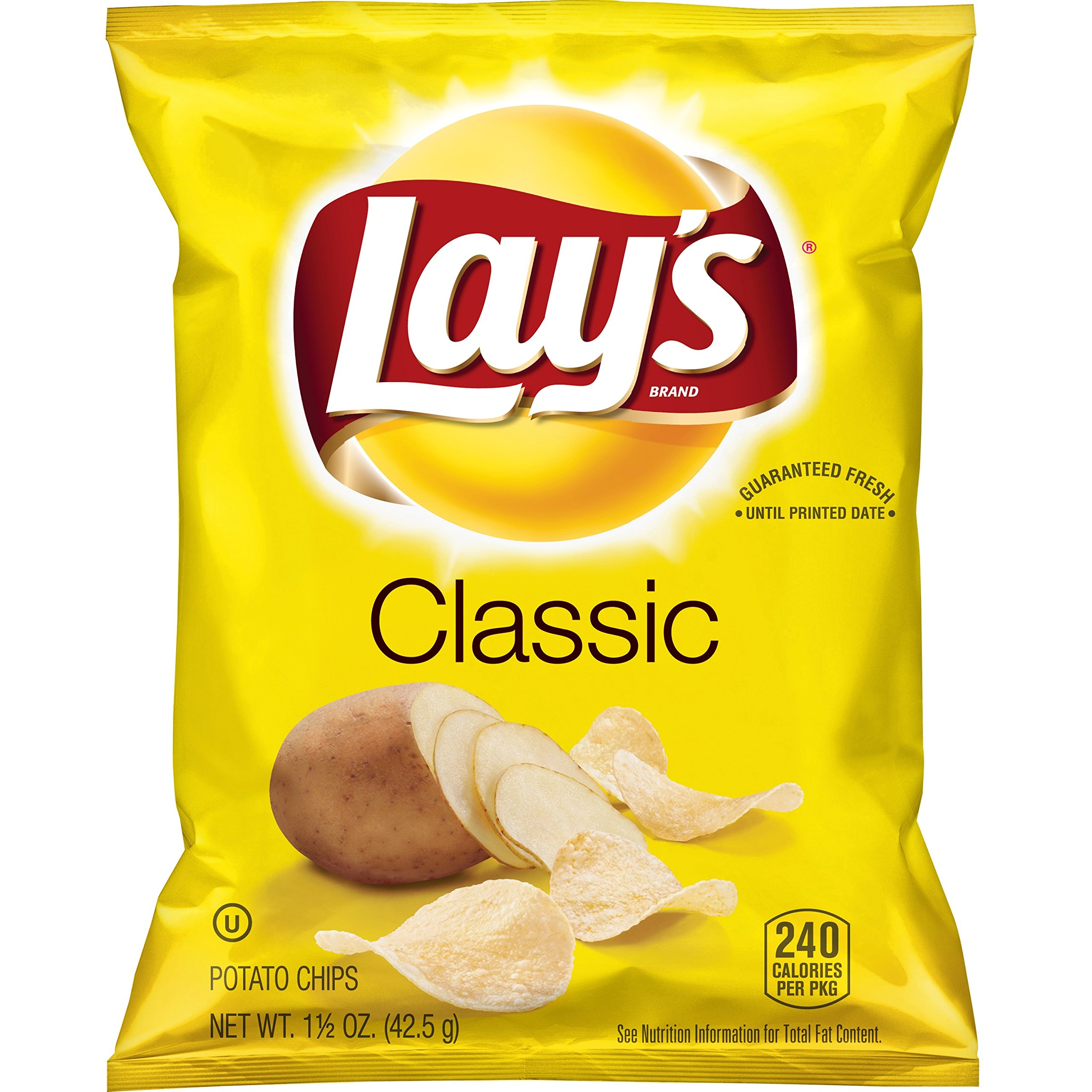 Lay's Classic Potato Chips, 1.5 Ounce (Pack of 64) by Lay's