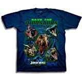 Jurassic World Boys 2 Save The Dinosaurs Short Sleeve T-Shirt Short Sleeve T-Shirt - Blue