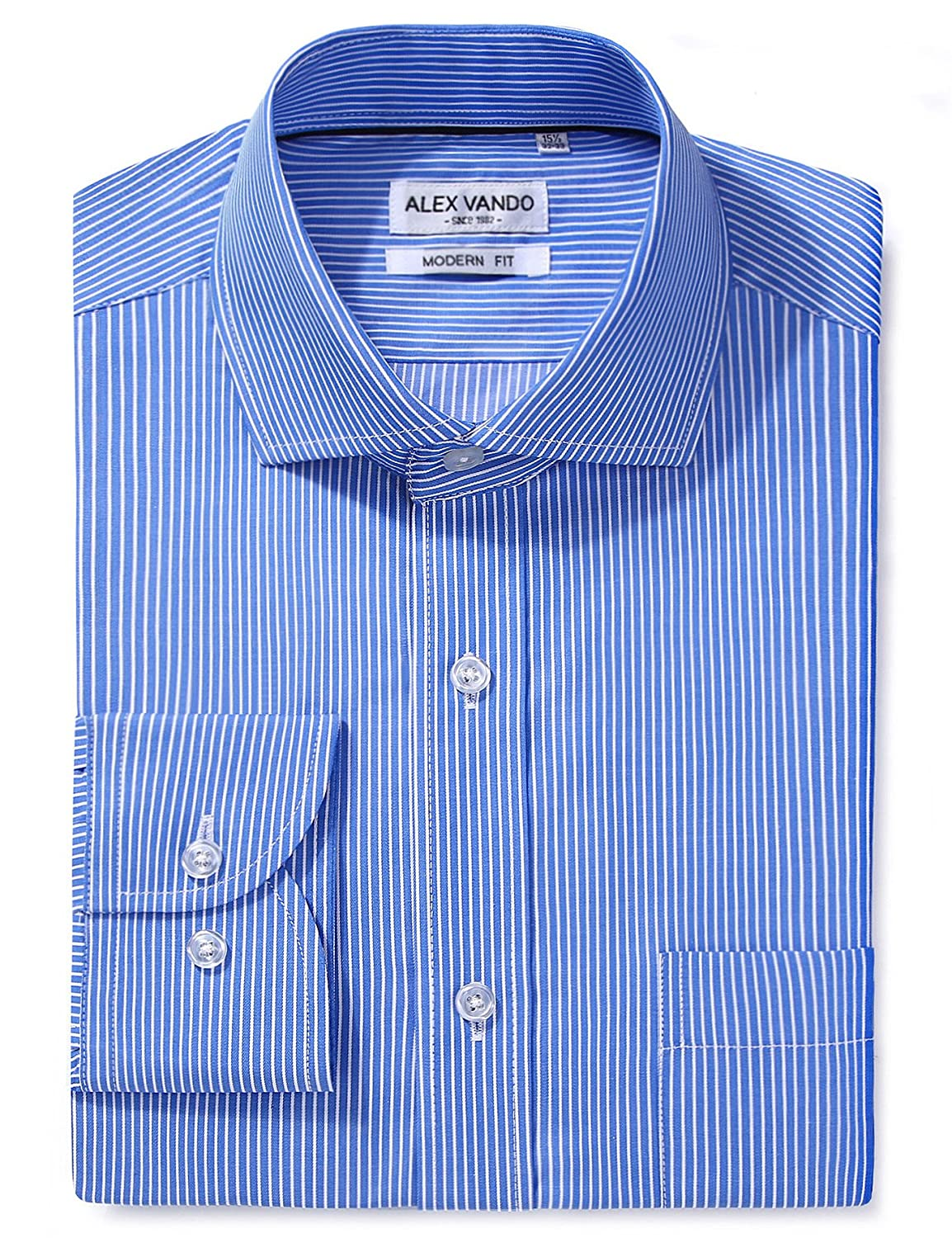 dfe5ac2fa19 Features  Long sleeve cotton casual dress shirts featuring spread collar  and a left pocket