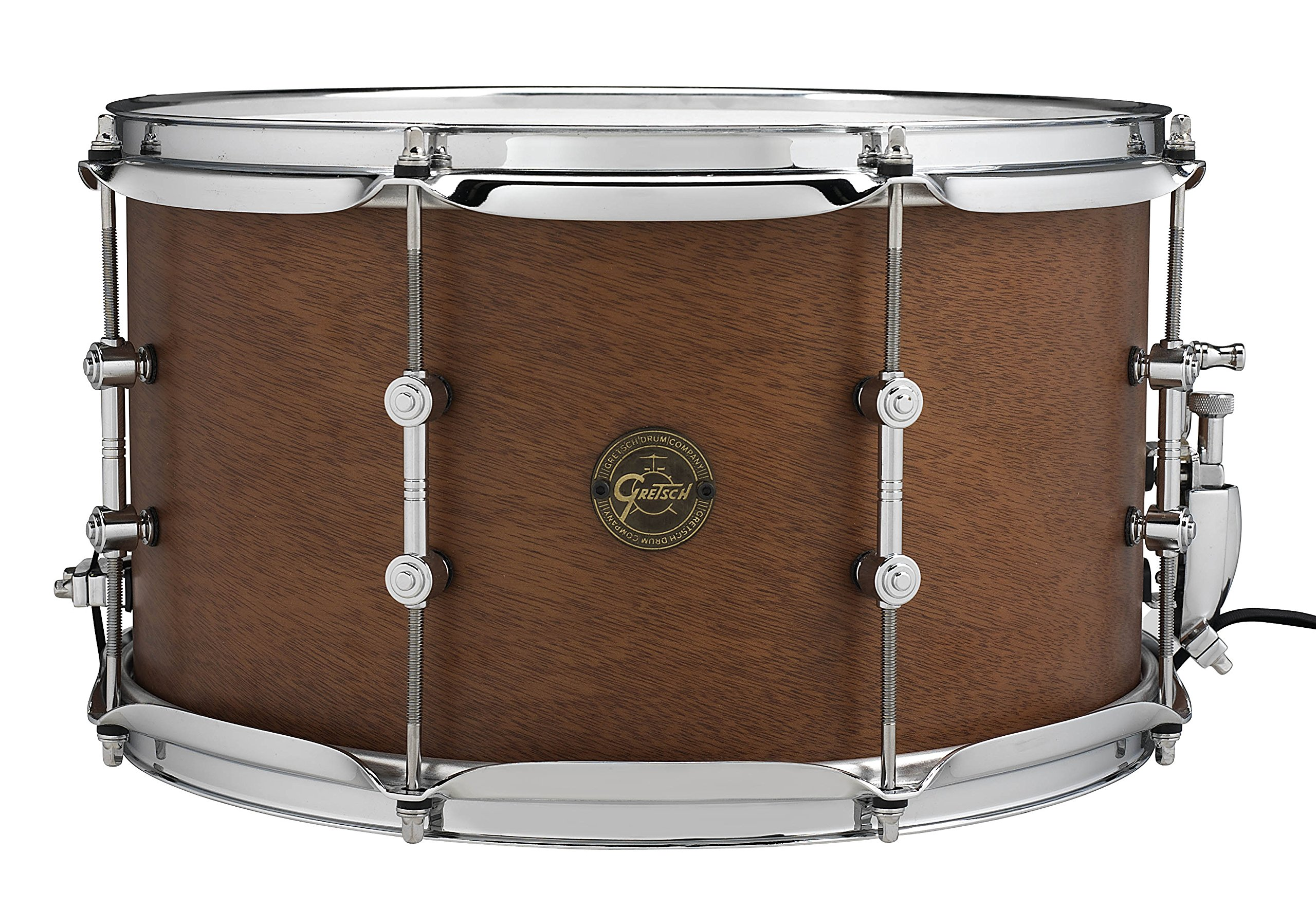 Gretsch Drums Full Range S1-0814SD-MAH 8x14'' The Swamp Dawg Snare Drum, Satin Natural