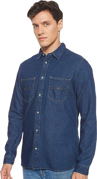 Tommy Hilfiger Pocket Camisa Vaquera para Hombre: Amazon.es: Ropa y accesorios